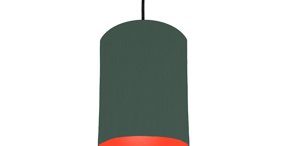 Bottle Green & Poppy Red Lampshade - 15cm Wide