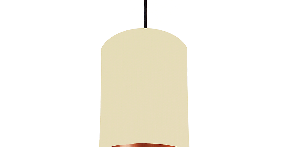 Natural & Copper Mirrored Lampshade - 15cm Wide