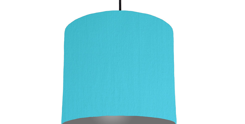 Turquoise & Dark Grey Lampshade - 25cm Wide