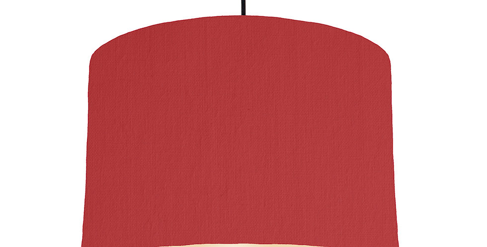 Red & Ivory Lampshade - 30cm Wide