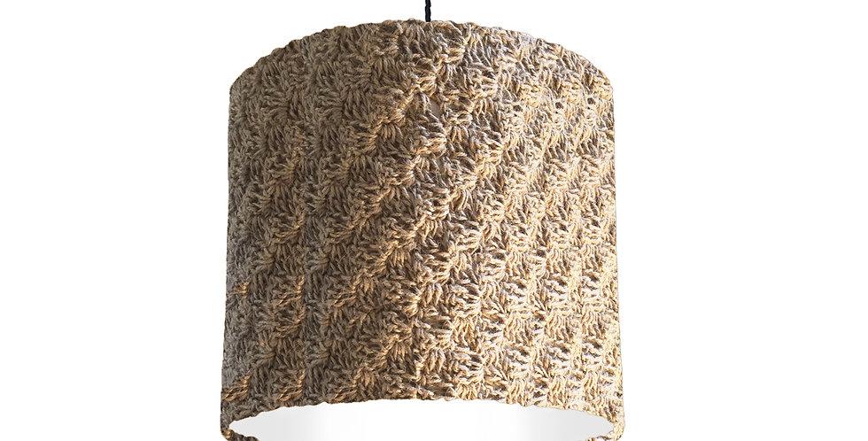 C2C Twine Crochet Lampshade - 25cm wide