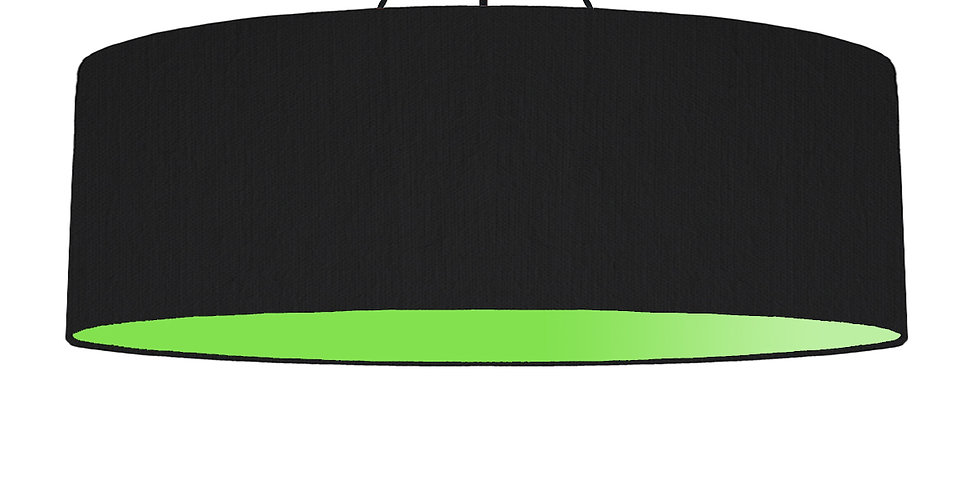 Black & Lime Green Lampshade - 100cm Wide