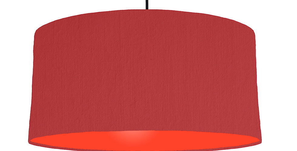 Red & Poppy Red Lampshade - 60cm Wide