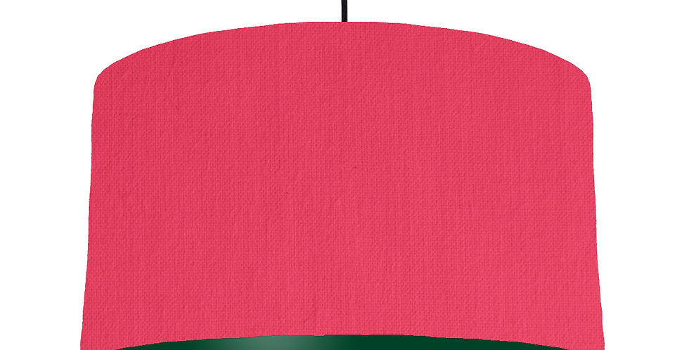 Cerise & Forest Green Lampshade - 50cm Wide