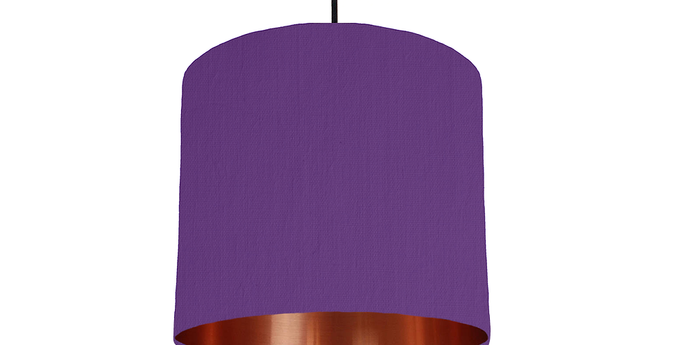 Violet & Copper Mirrored Lampshade - 25cm Wide
