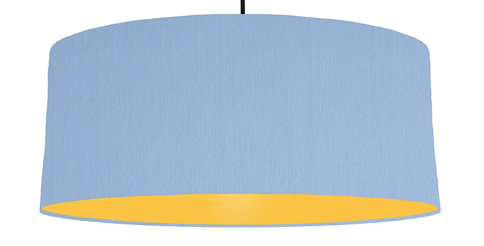Sky Blue & Butter Yellow Lampshade - 70cm Wide