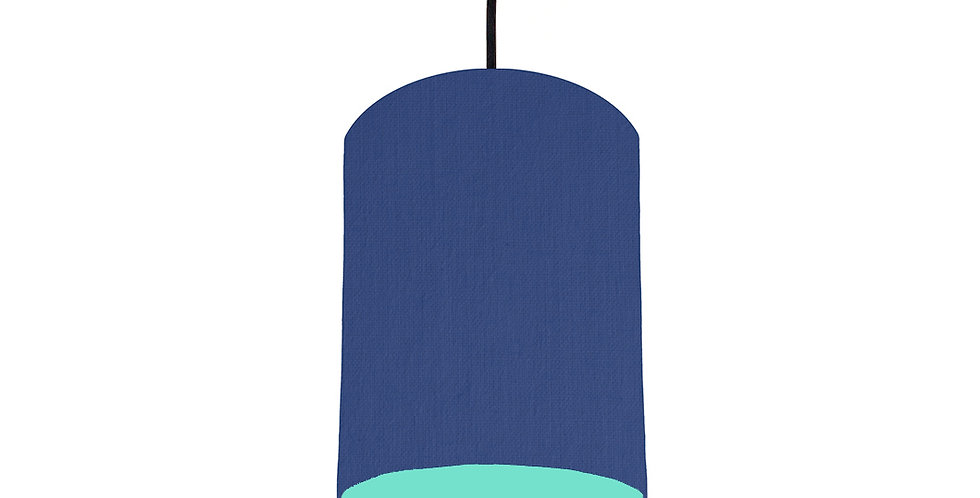 Royal Blue & Mint Lampshade - 15cm Wide