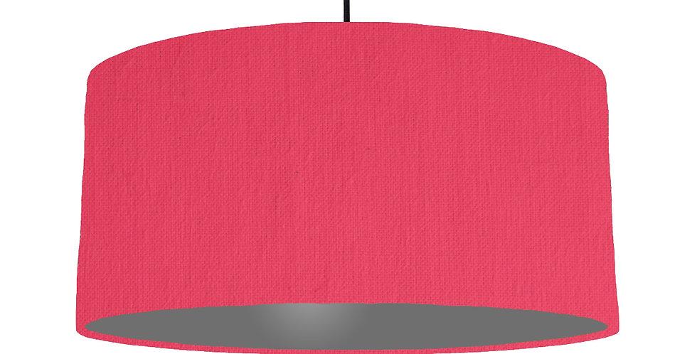 Cerise & Dark Grey Lampshade - 60cm Wide