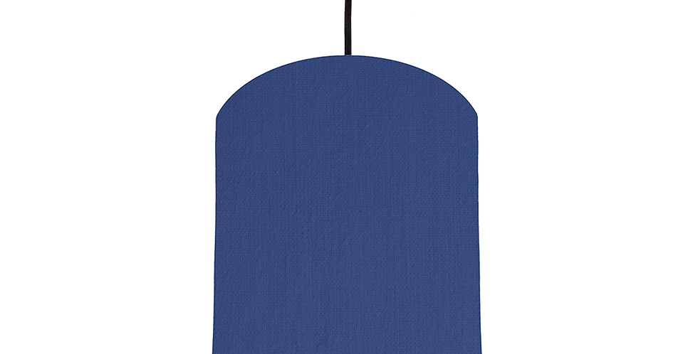 Royal Blue & White Lampshade - 20cm Wide