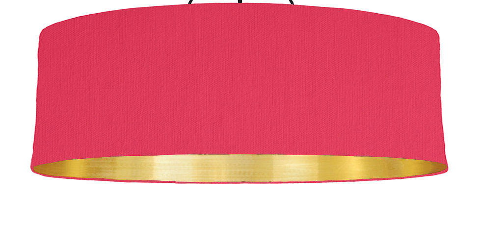 Cerise & Brushed Gold Lampshade - 100cm Wide