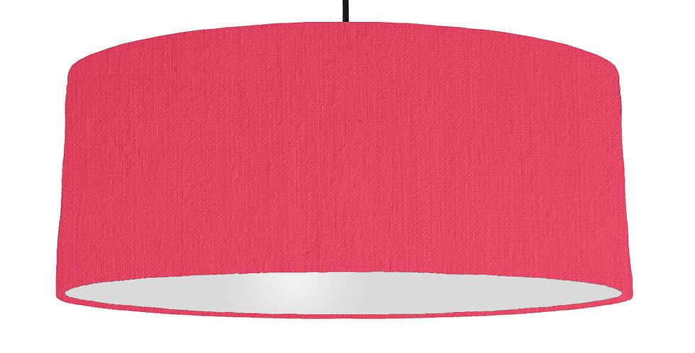 Cerise & Light Grey Lampshade - 70cm Wide