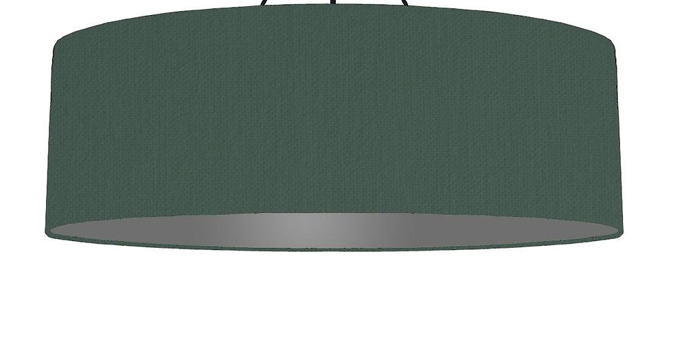 Bottle Green & Dark Grey Lampshade - 100cm Wide