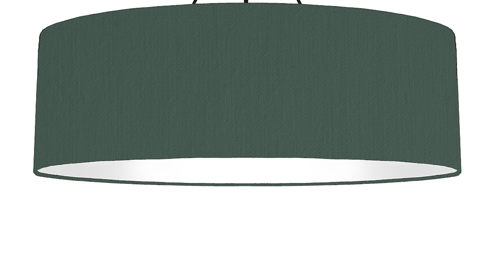 Bottle Green & White Lampshade - 100cm Wide