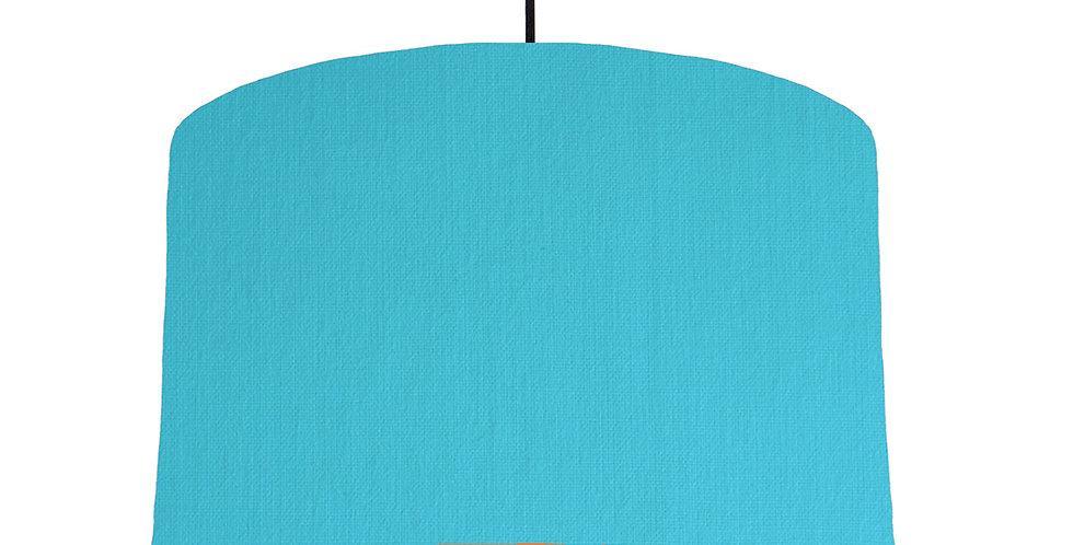 Turquoise & Orange Lampshade - 40cm Wide