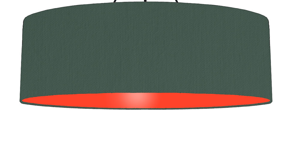 Bottle Green & Poppy Red Lampshade - 100cm Wide