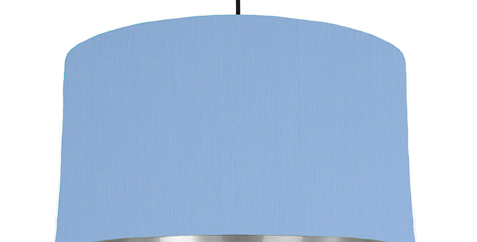 Sky Blue & Silver Mirrored Lampshade - 50cm Wide
