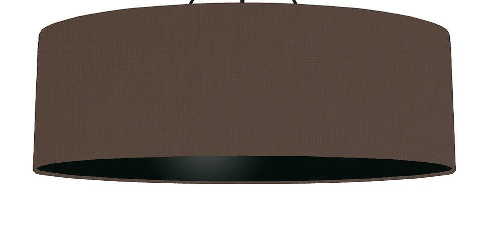 Brown & Black Lampshade - 100cm Wide