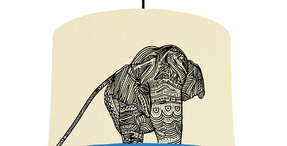 Elephant - Natural & Bright Blue