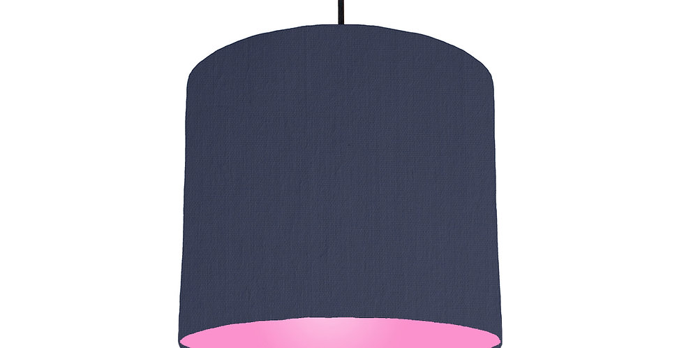 Navy Blue & Pink Lampshade - 25cm Wide