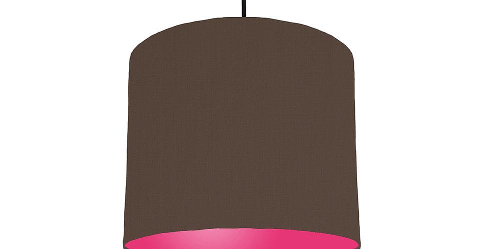 Brown & Magenta Lampshade - 25cm Wide