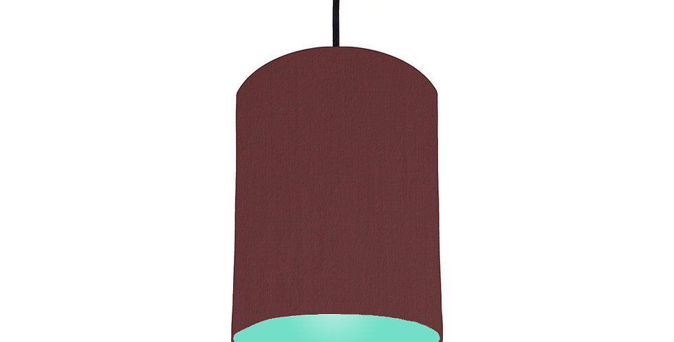 Wine Red & Mint Lampshade - 15cm Wide