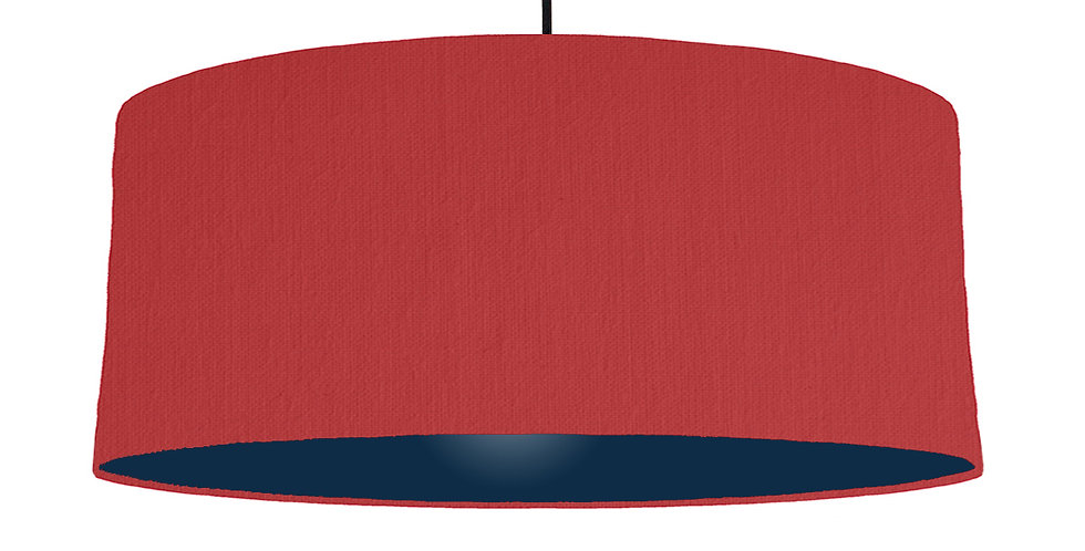 Red & Navy Lampshade - 70cm Wide
