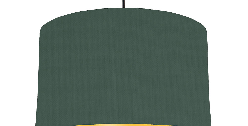 Bottle Green & Butter Yellow Lampshade - 40cm Wide