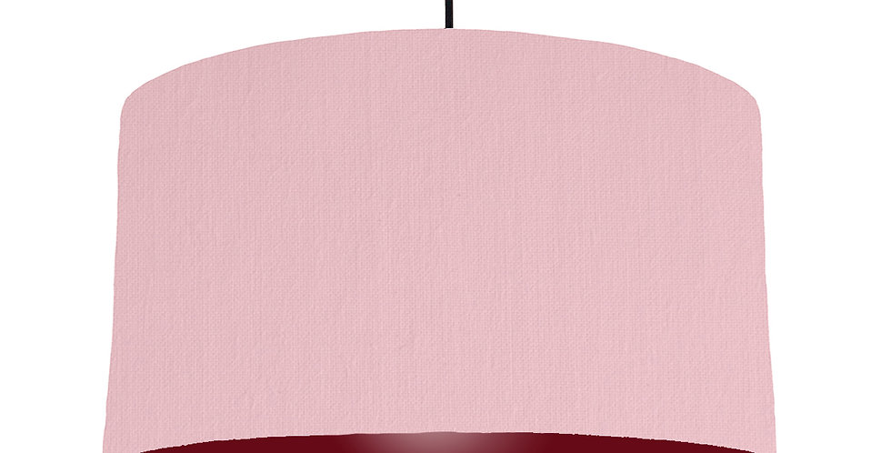 Pink & Burgundy Lampshade - 50cm Wide