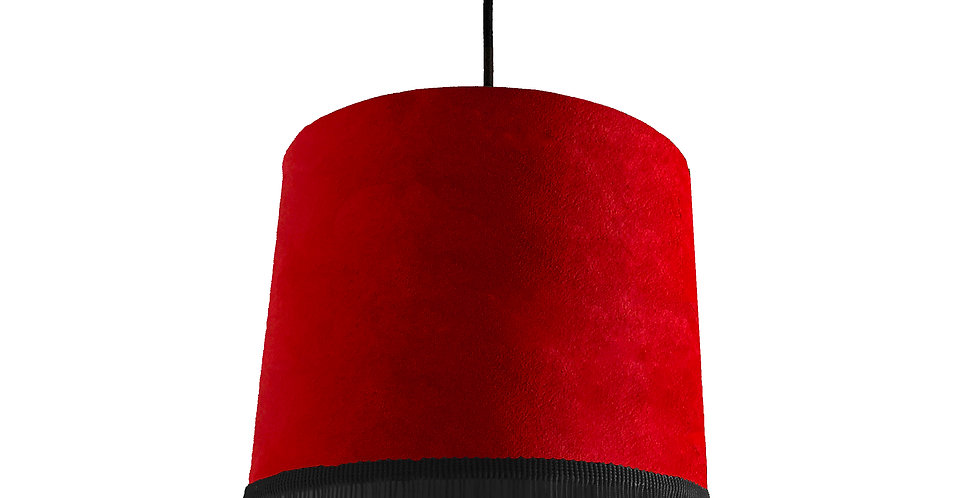 Scarlet Red Lampshade With Trim