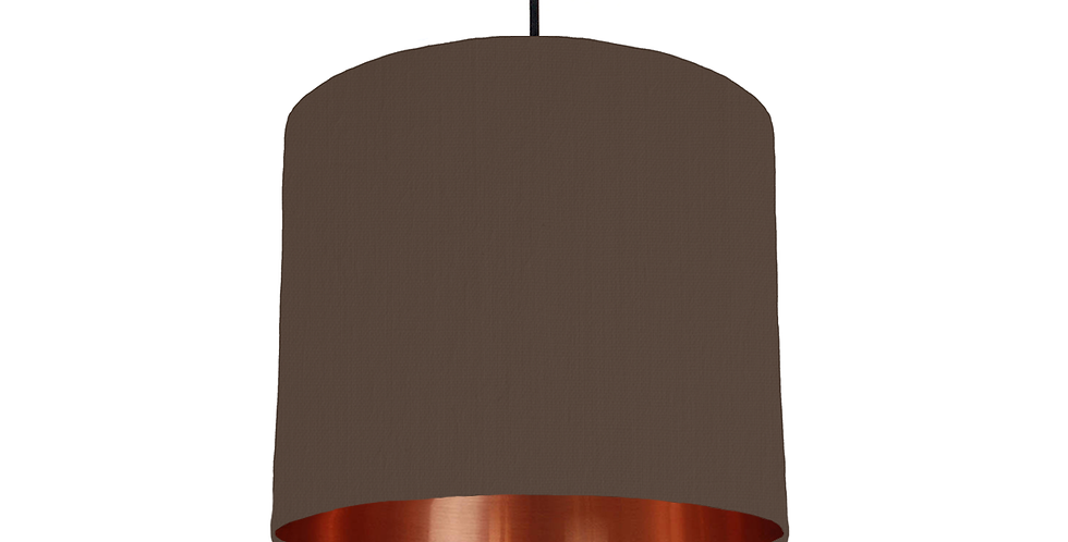 Brown & Copper Mirrored Lampshade - 25cm Wide