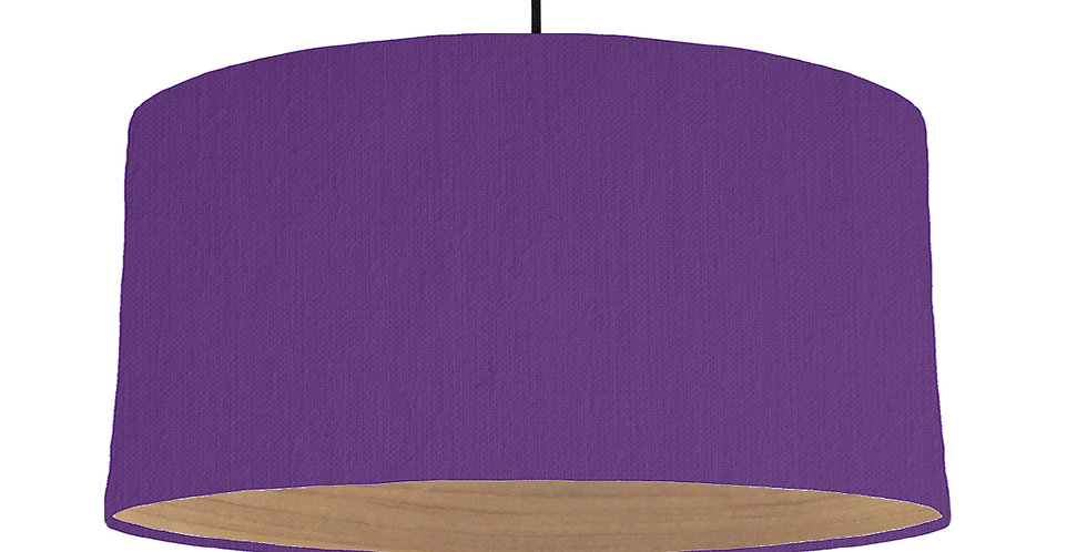 Violet & Wooden Lined Lampshade - 60cm Wide