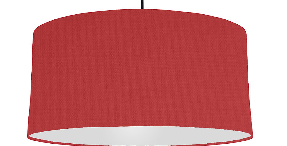 Red & Light Grey Lampshade - 60cm Wide