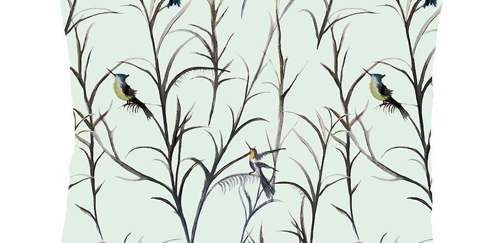 Watercolour Bird Velvet Cushion