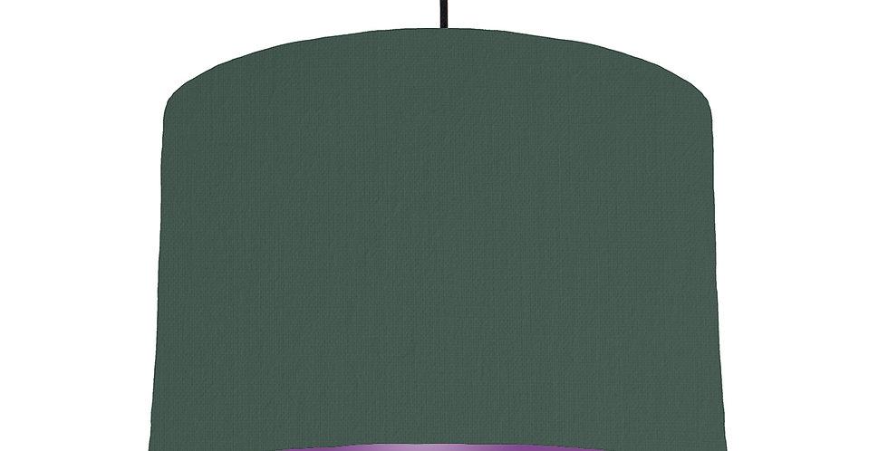 Bottle Green & Purple Lampshade - 30cm Wide