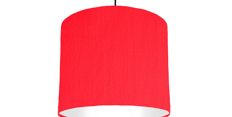Neon Pink & White Lampshade - 25cm Wide