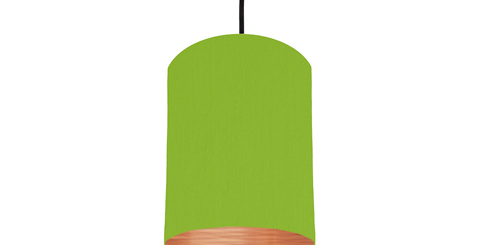 Pistachio & Brushed Copper Lampshade - 15cm Wide