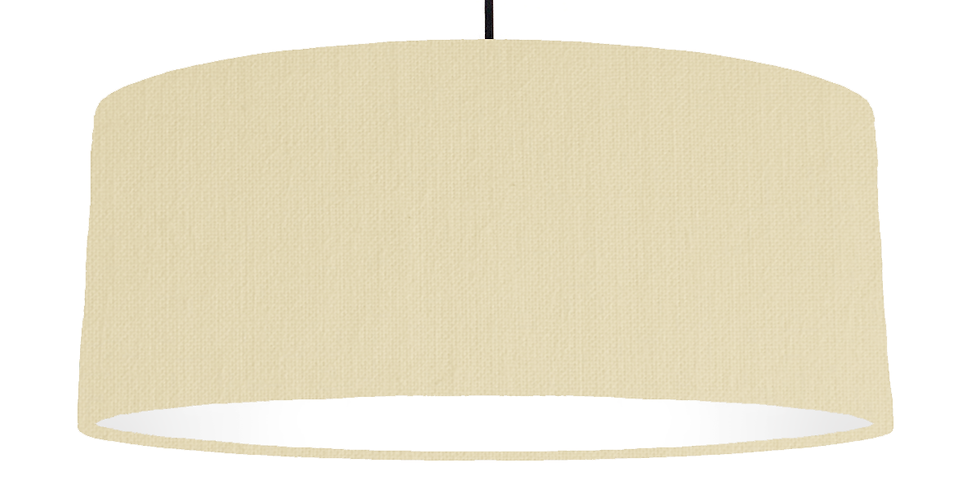 Natural & White Lampshade - 70cm Wide