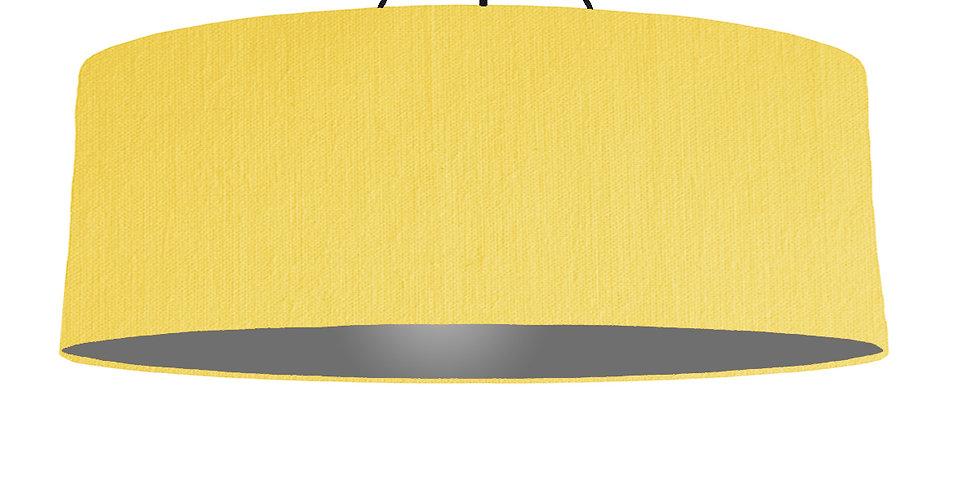 Lemon & Dark Grey Lampshade - 100cm Wide