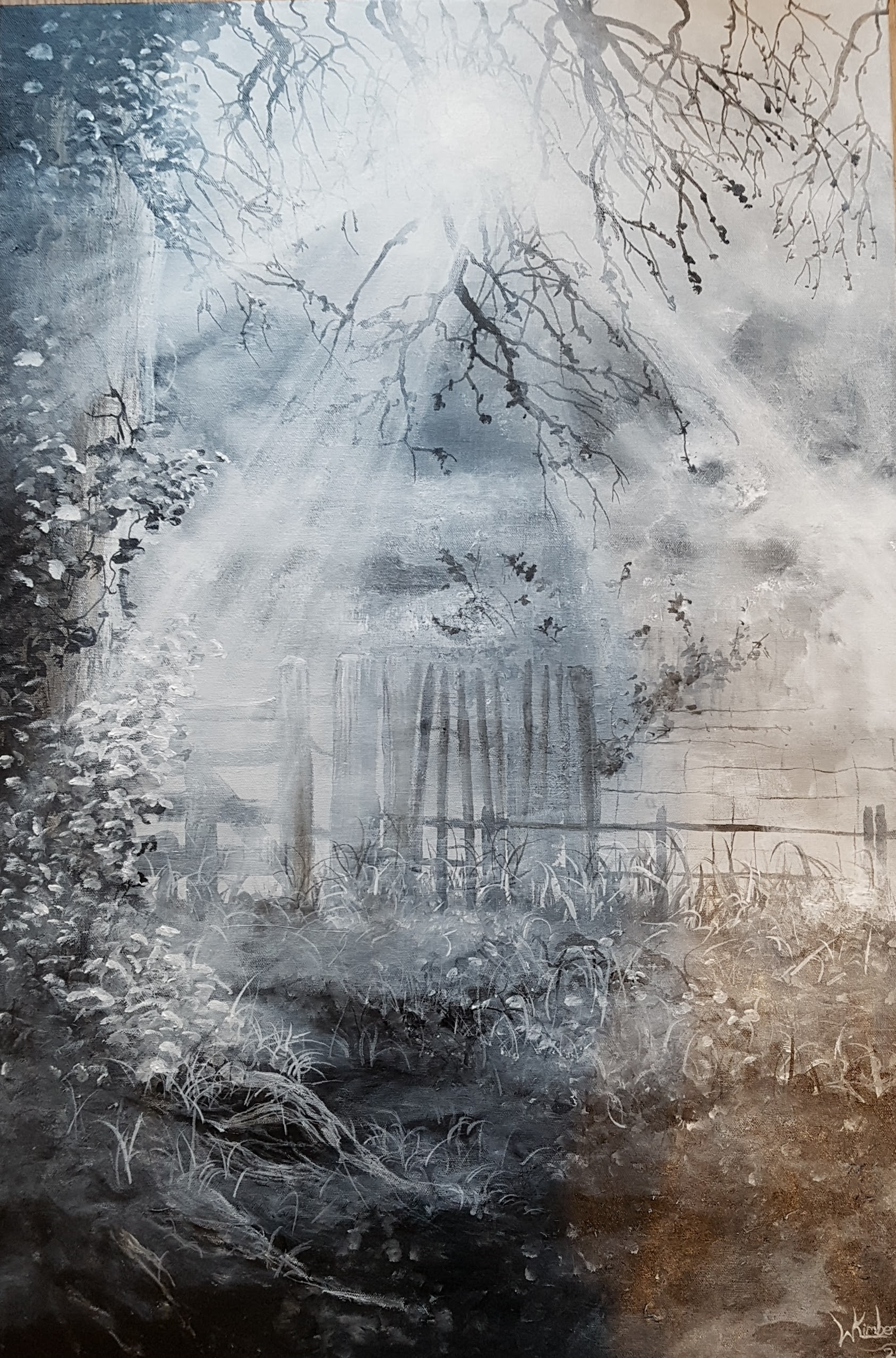 Mist over East Carlton, Norfolk