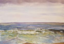 Waves at Happisburgh beach, Norfolk