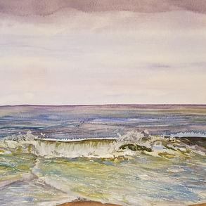 Waves at Happisburgh beach (2017)