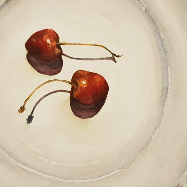 Cherries on a plate (2019)