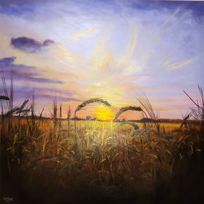 Sunset over fields in Great Melton (2018)
