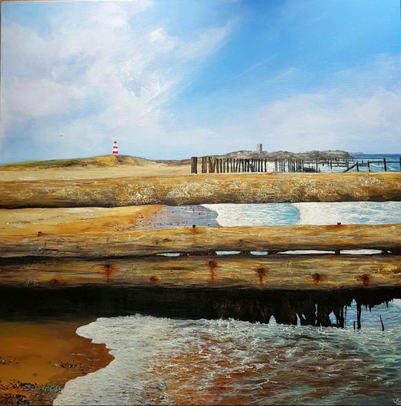 High tide, Happispburgh Beach , Norfolk. (2017)