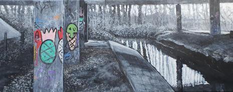 Undercurrents (2021) Cringleford Bridge, Below the A11 , featuring Knapple Graffetti.