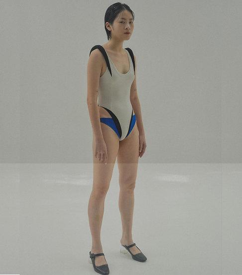APOLLO Jersey Bodysuit ( Off- White / Black)