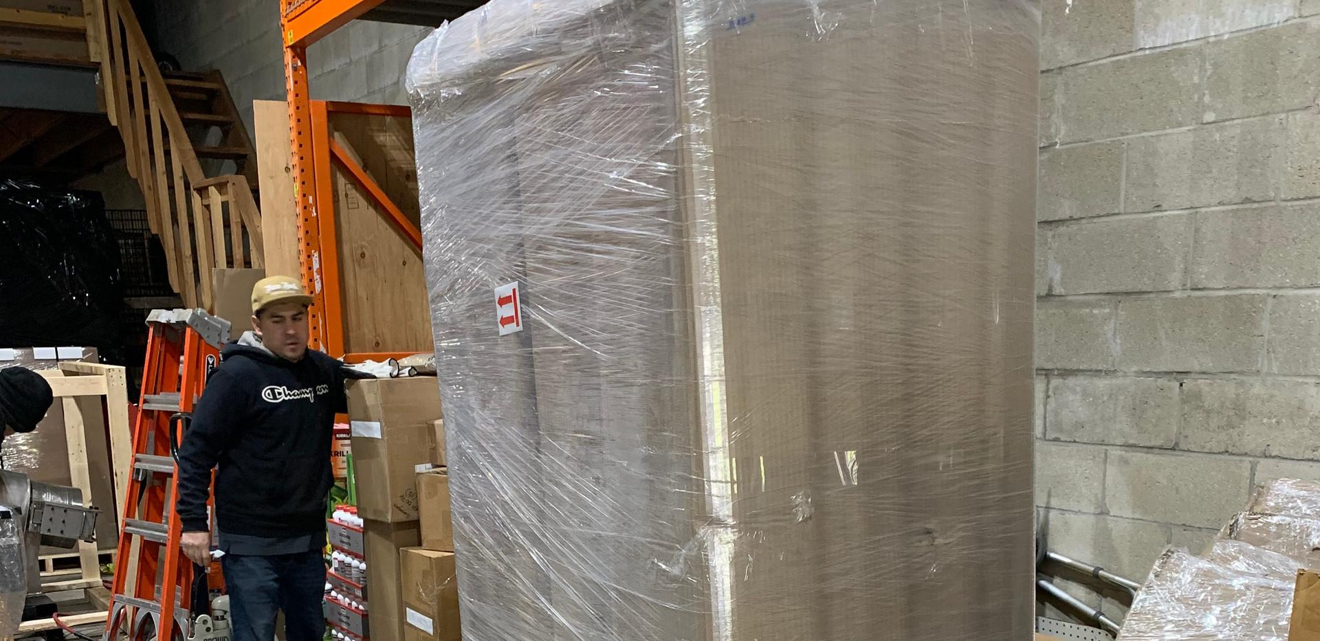 Corrugate, Shrink wrap, cornerning. We got it all covered