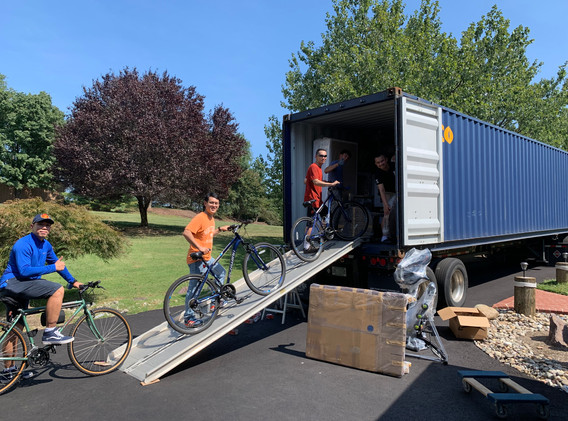 Loading bikes in Maryland