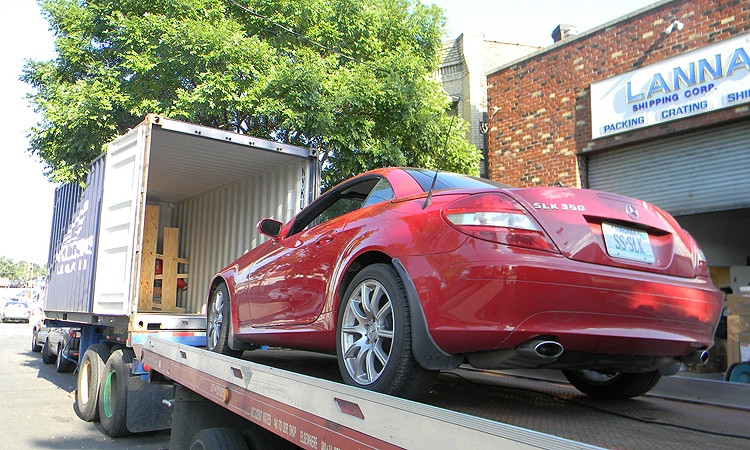 When the containers aren't enough, we stuff cars in so nothing moves back onto the car. This way we ensure a safe transport during our shipments.