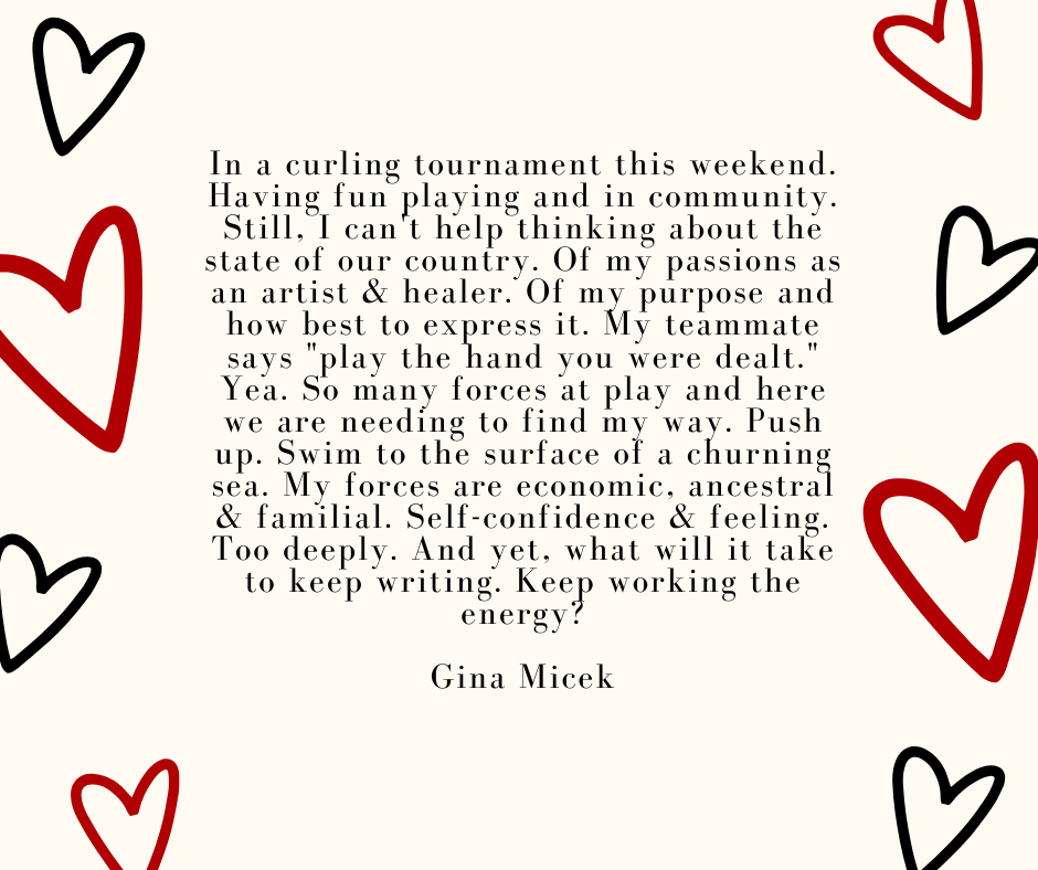 This is a short story by Gina Micek on the energy at a curling tournament